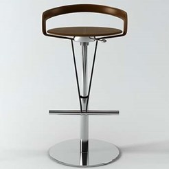 Cayman Leather Bar Stool
