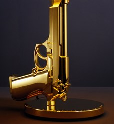 Bedside Gun Table Lamp