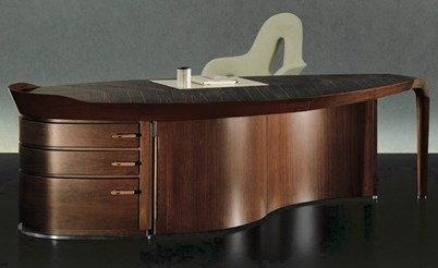 Erasmo Ebony Writing Desk