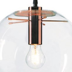 Selene Copper Suspension Lamp