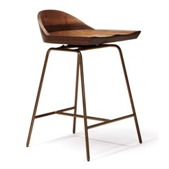 Spindle Low Back Bar Stool
