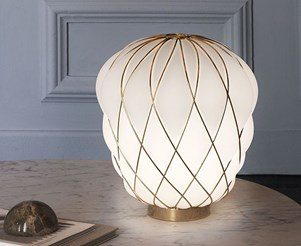 Pinecone Gold Table Lamp
